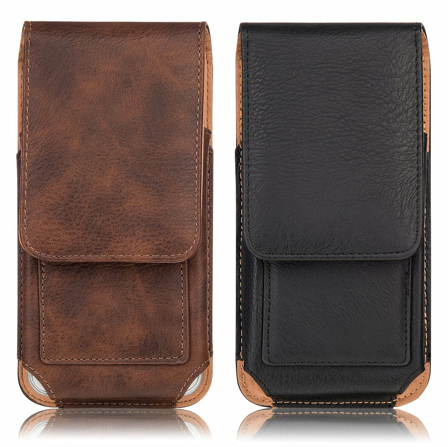 Vertical Leather Holster Belt Clip Pouch Carrying Case Cover