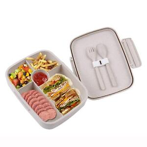 Microwave Bento Lunch Box Leakproof with Utensils Food Container for Kids Adults