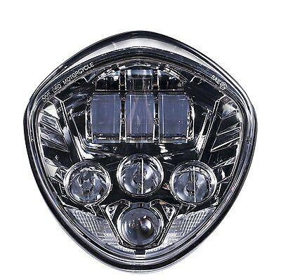 Custom Chrome LED Headlight for Victory Cross Country, Kingpin, Vegas Daymaker