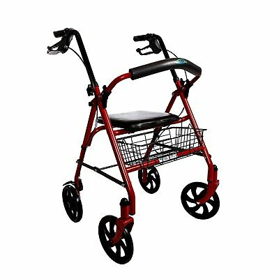 walker rollator with 7 5 four wheels
