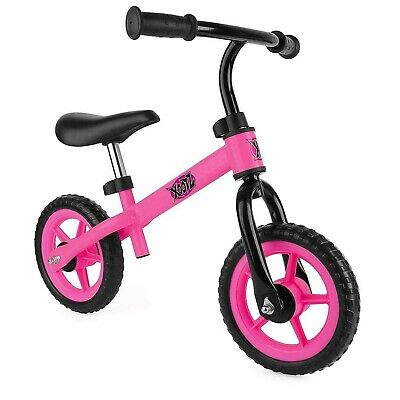 """Xootz Girls Toddler Kids Training Balance Bike Bicycle 10"""" EVA Wheel Pink TY5876"""