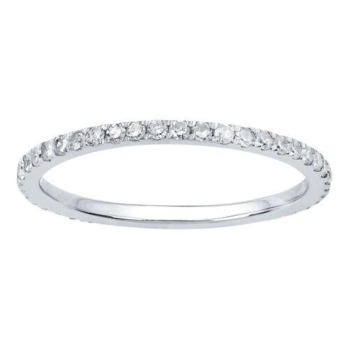 White Gold 2/3ct Pave Eternity Diamond Wedding Band (H-1, I1-I2)