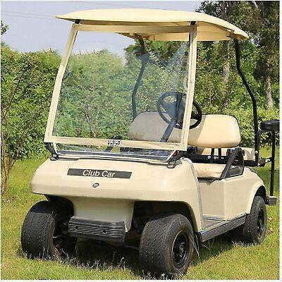 10L0L Foldable Golf Cart Windshield Fit Club Car DS Golf Cart Clear PVC Film New
