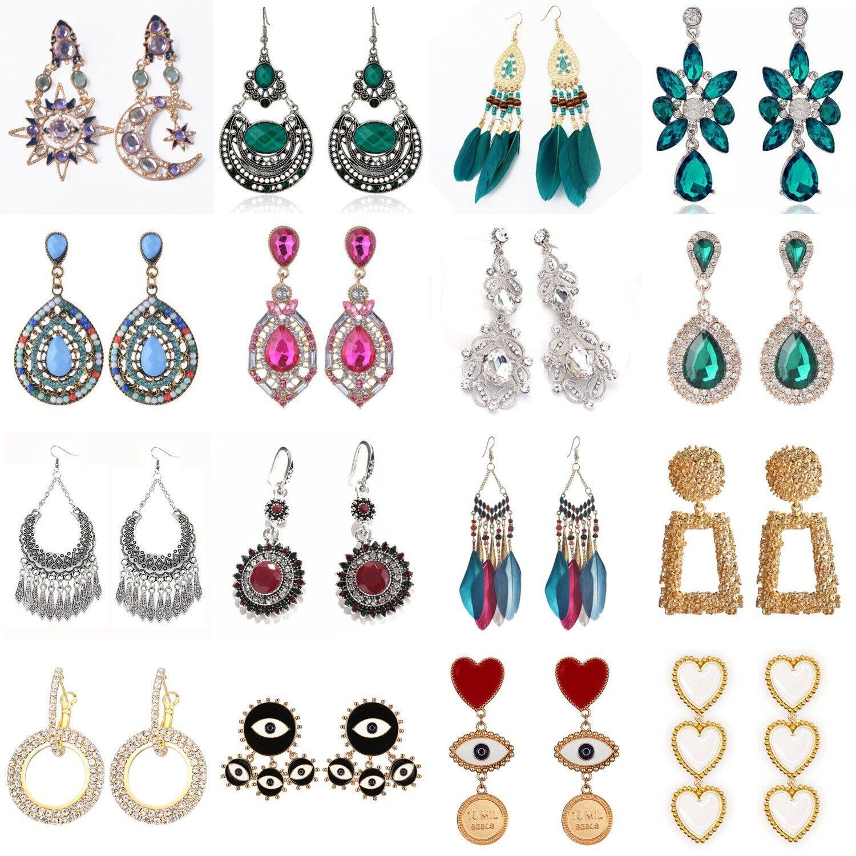 Jewellery - Women Crystal Rhinestone Boho Dangle Drop Ear Stud Fashion Earrings Jewelry Gift