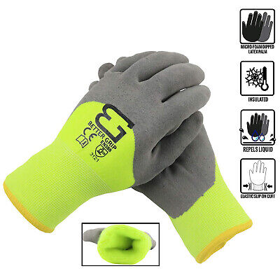 Safety Winter Insulated Double Lining Rubber 34coated Work Gloves -bgwans34-lm