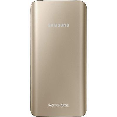 Samsung Rechargeable Portable Battery Pack with Fast Charging, 5200 mAh - Gold ()