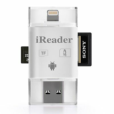 Apple External Lightning Reader Memory TF/SD Card For iPhone Xs 8 Android IOS12