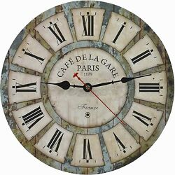 Shabby Chic French Country 14 inch Wall Clock & Decor Piece
