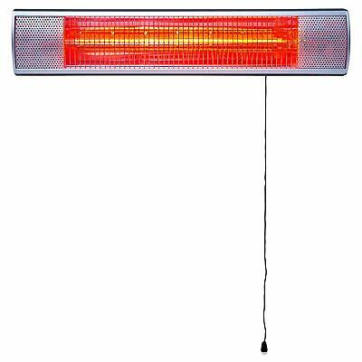 MYLEK Outdoor Wall-Mounted Patio Heater with Pull Cord 2KW, Garage, Garden