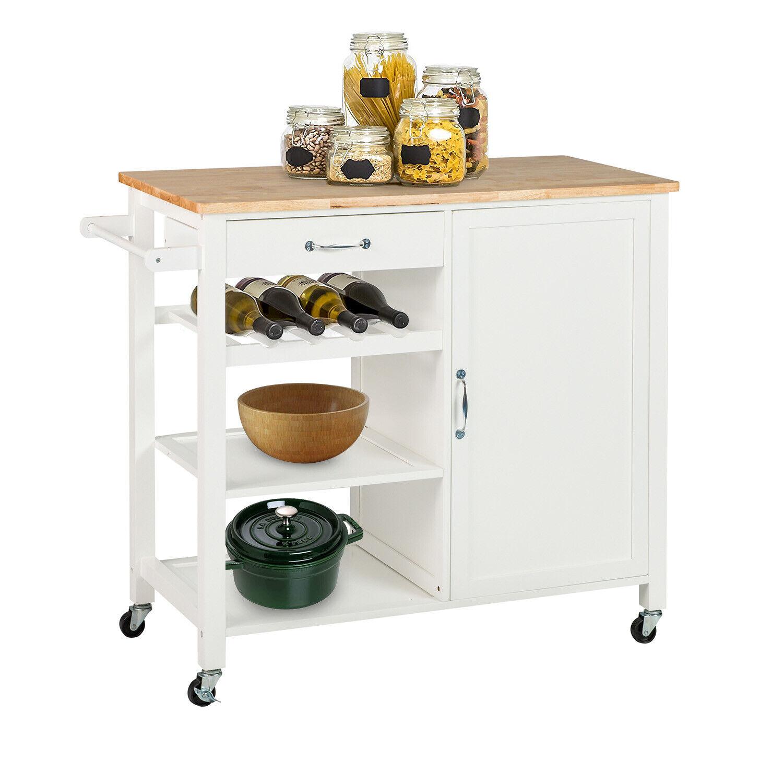 Kitchen Island Trolley Cart Utility Dining Storage Cabinet D