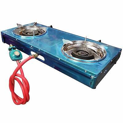 DOUBLE HEAD PORTABLE PROPANE GAS STOVE DOUBLE BURNER OUTDOOR CAMPING for sale  Shipping to Nigeria