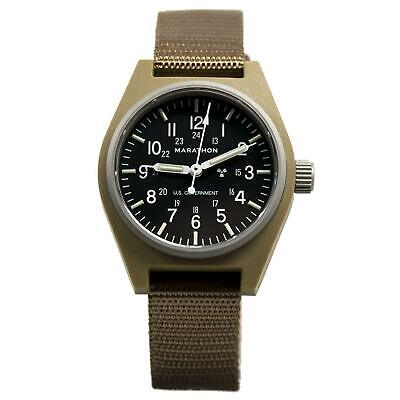 Marathon Military Auto Self-winding Tritium Field Watch: Tan: Seiko Movement