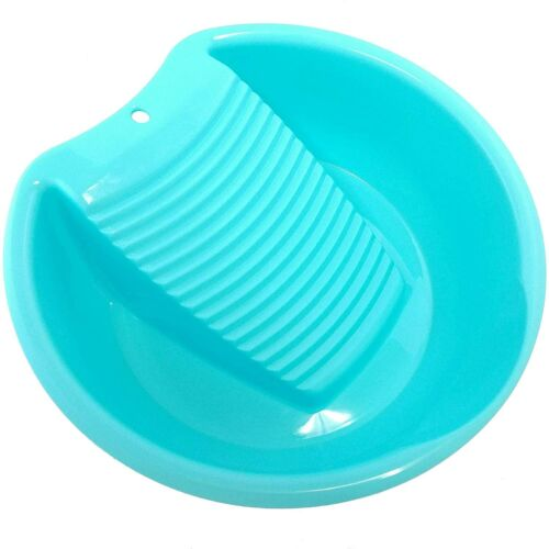 New Blue Washboard Basin for Hand Washing Clothes and Small Delicate Articles