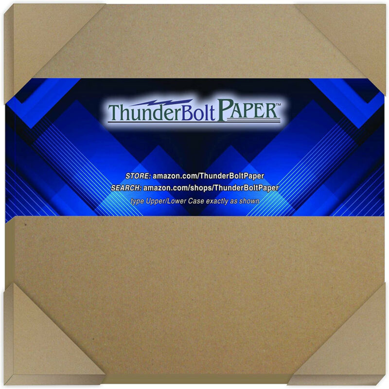10 Sheets Brown Chipboard 80 Point Extra Thick 12 X 12 Inches Scrapbook 1500 gsm