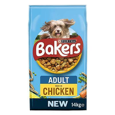 Adult Dog Food Chicken And Veg Bakers Complete Balance Nutrition Pet 14KG
