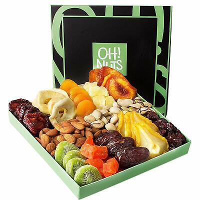 Holiday Nut and Dried Fruit Gift Basket, Healthy Gourmet Snack Christmas Food ()