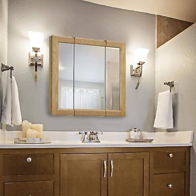 Medicine Cabinet Mirror Tri-View 30 Inch Bathroom Storage Sink Bath Large 3 Door - Large Bathroom Medicine Cabinet