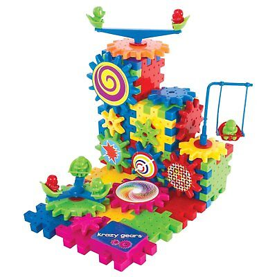 Krazy Gears Gear Building Toy Set - Interlocking Learning Bl