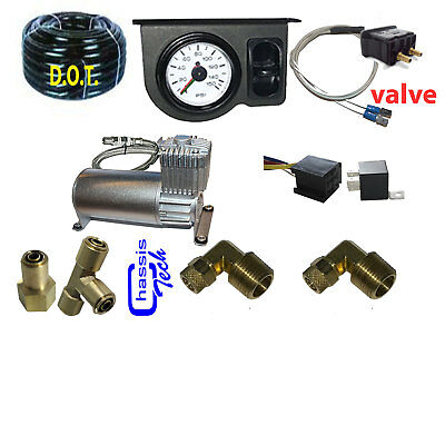 Tow Assist Control In Cab Air Height Control Electric Switch Kit Gauge, Compress