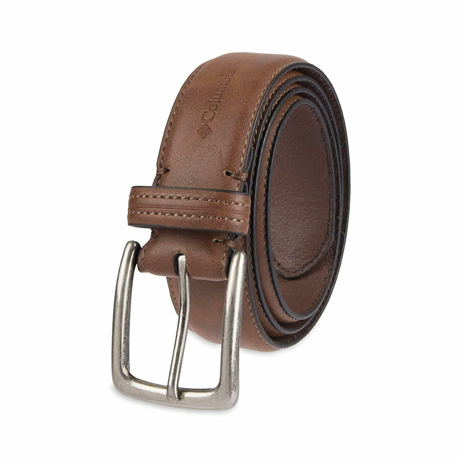 Columbia Men's Casual Leather Belt -Trinity Style for Jeans