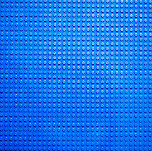 BUILDING BOARD - BLUE BASE PLATE -32X32 STUDS BASEPLATE LEGO COMPATIBLE