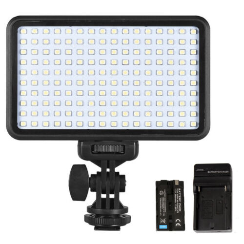 Dimmable 160 LED Video Light on Camera LED Panel with Battery and Charger