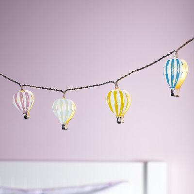12er LED Ballon Lichterkette Kinderzimmer Beleuchtung Timer Batterie Lights4fun ()