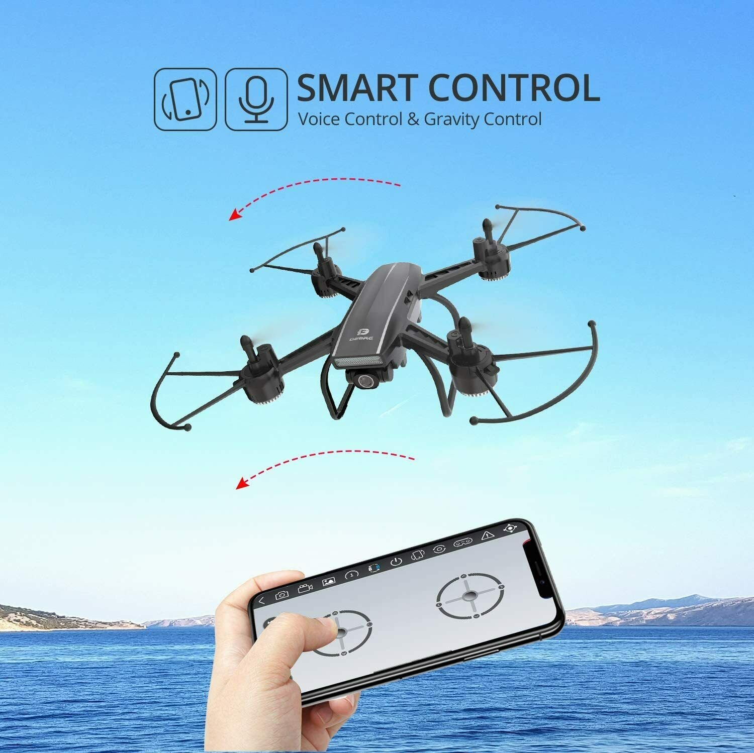 Holy Stone D50 2.4G FPV Drone 2K HD Video Camera RC Quadcopter with 2 Batteries 7