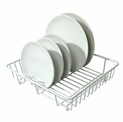 Delfinware Wireware White Popular Dish Sink Kitchen Drainer Drying Rack Strainer