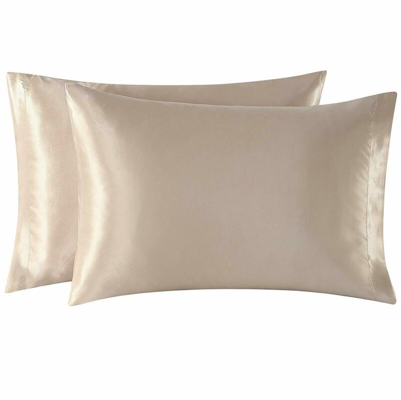 Exq Home Satin Pillowcases Set Of 2 For Hair And Skin King S