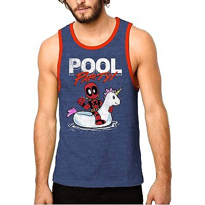 2018 Deadpool Mens Pool Party Unicorn Graphic Tank Top