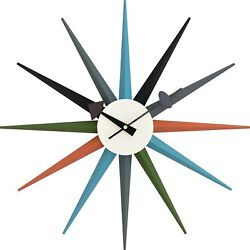 George Nelson Wall Clock Furniture Multi Color Sunburst Reproduct Japan