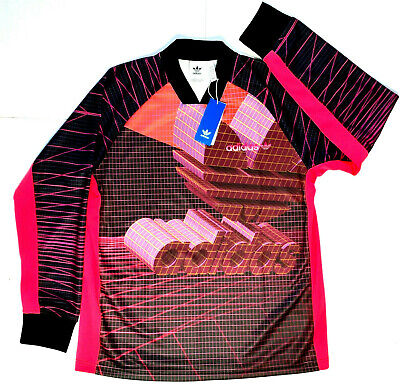 Adidas Soccer Mens Goalie 3D Jersey Trefoil LARGE Goal Keeper Black Neon NEW Black Goalie Jersey