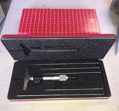 Starrett Digital Micrometer Depth Gage No.446az-6rl Nib