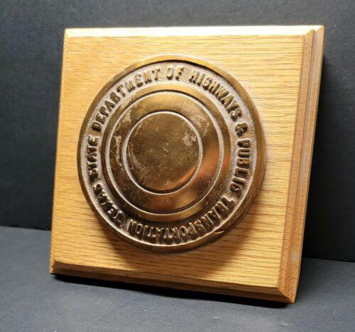 Vintage TxDOT Brass Benchmark Marker Survey Disk ☆ Texas Department Of Highways