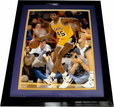 AC Green Hand Signed Autographed 16X20 Photo Custom Framed LA Lakers UDA