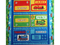 THOMAS THE TANK Fast Friends Percy James Stripes 100/% cotton fabric by the yard