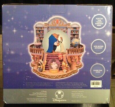 Disney store exclusive Beauty and the Beast Music snow globe Rare NIB
