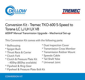 Tremec-TKO-600-5-Speed-To-Holden-Torana-LC-LJ-LH-LX-V8-Mechanical-Set-up