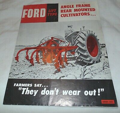 Ford Rear Mounted Cultivator Advertising Brouchure Tractor Vintage Farm