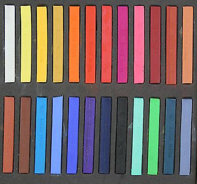 24-Color Non-toxic Temporary Hair Soft Chalk Pastel Dye DIY Salon Kit (24 PC S)