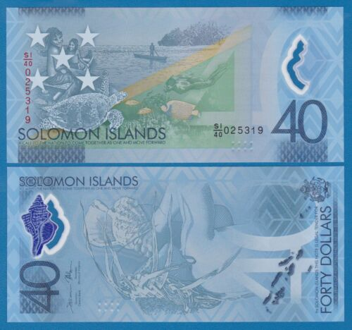 Solomon Islands 40 Dollars P 37 2018 Polymer Commemorative UNC Low Shipping!