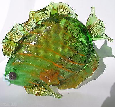 Großer Hangefertigter Kristallglas Fisch