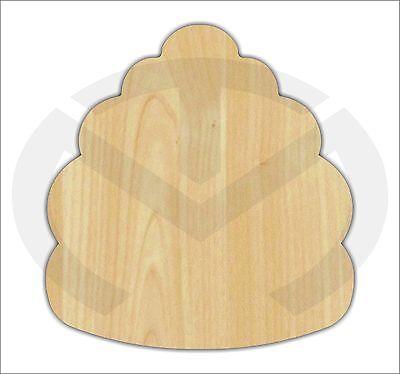 Unfinished Wood Beehive Laser Cutout, Home Decor, Door Hanger, Summer (Beehive Decor)