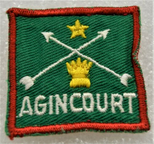 AGINCOURT 5 Points on Wheat Sheaf Boy Scout Uniform Badge Canadian (ONA1C) USED