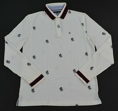 NWT Men's Tommy Hilfiger Long-Sleeve Rugby Polo Shirt Multi XS - XXL