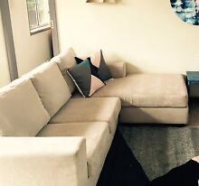 Beige  pre-loved fabric lounge South Penrith Penrith Area Preview