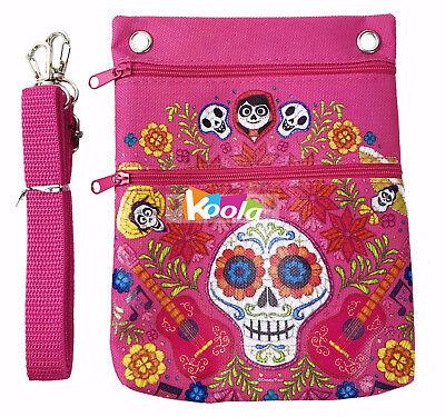 COCO Shoulder Bag, Disney COCO Cross Body Shoulder Bag Purse pink