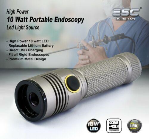 Portable Cold LED Light Source ENT Endoscopy Medical 10W Rigid Endoscope Camera