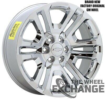 "22"" Chevrolet GMC Silverado Sierra 1500 Chrome wheels CK158 Factory OEM 4741"